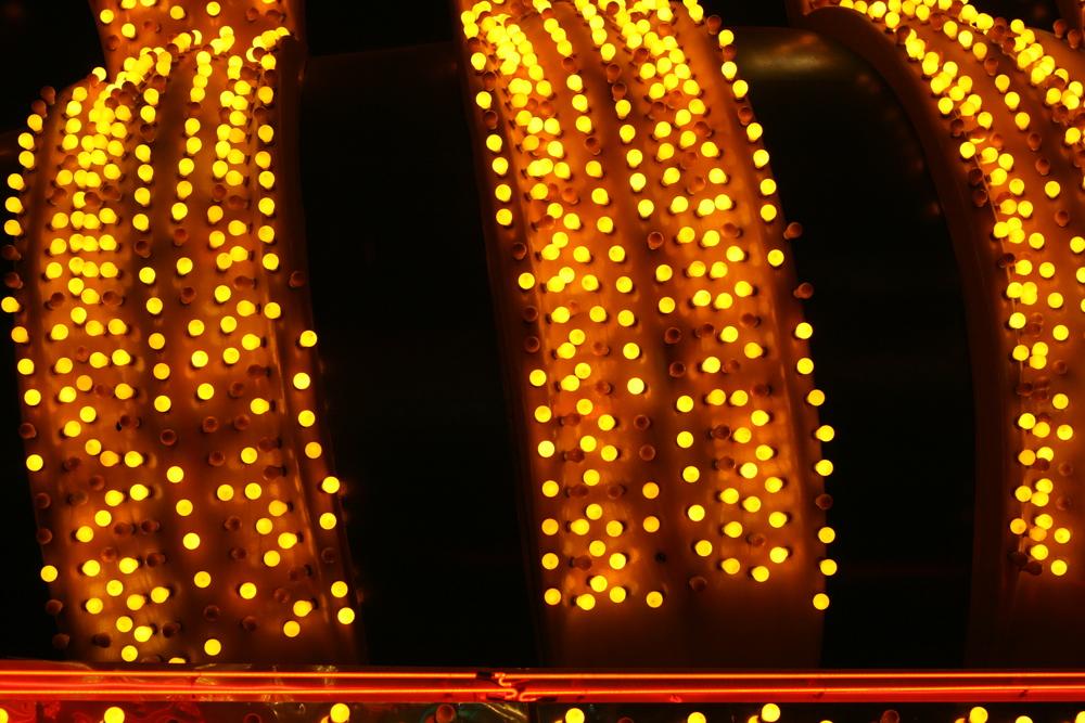Old Vegas lights