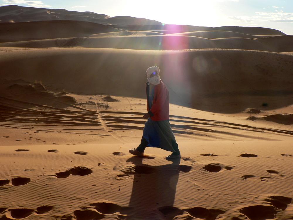 A Berber man in Erg Chebbi, Morocco.