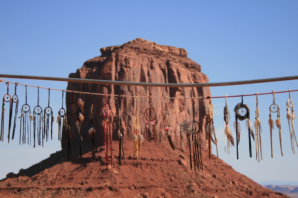 Navajo dreamcatchers at Monument Valley