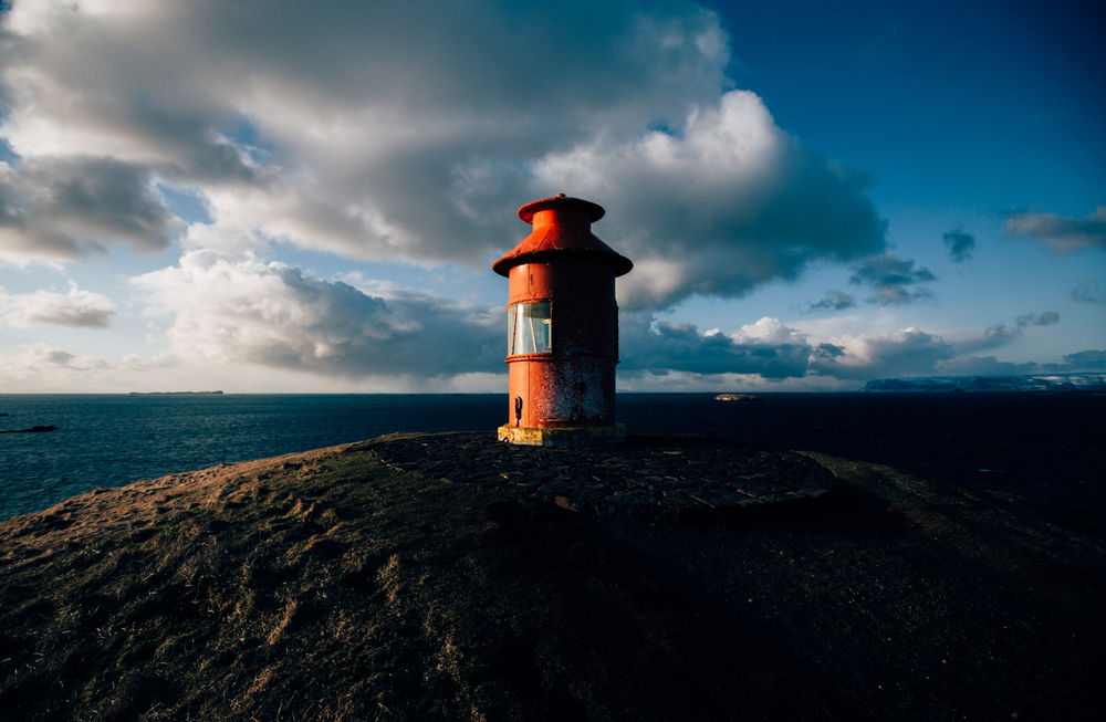 55. Doug Klembara, Lighthouse at Stykkishólmur.jpg