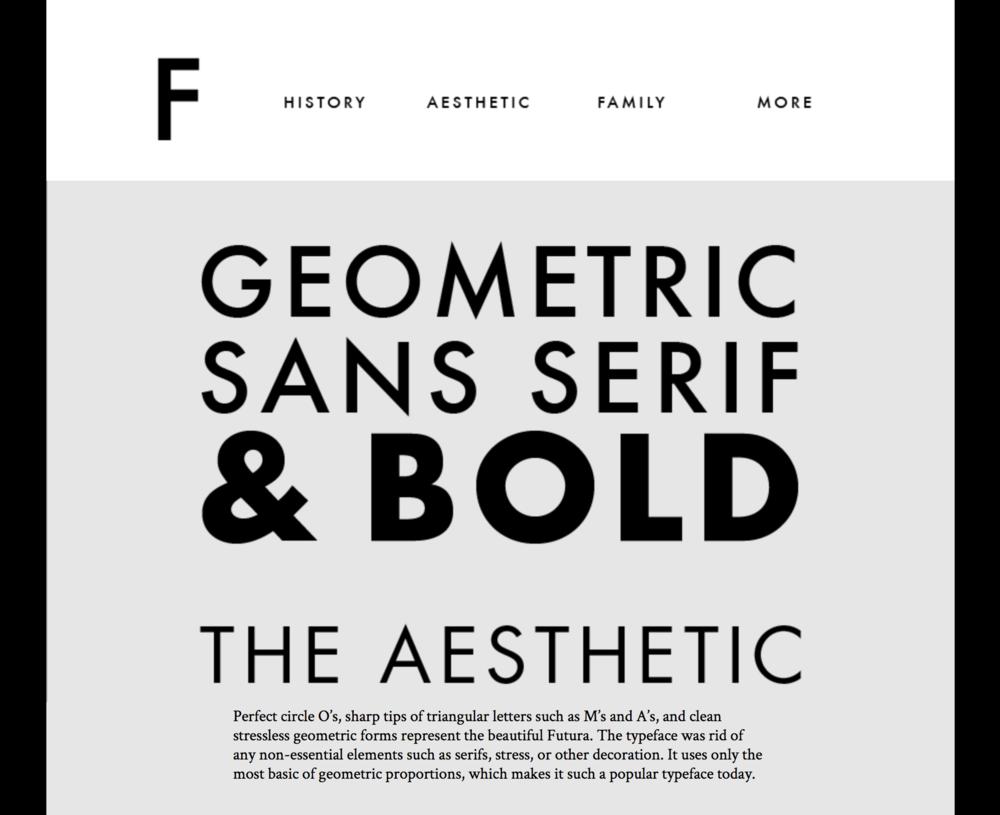 Futura Site by Logan Reichenberger