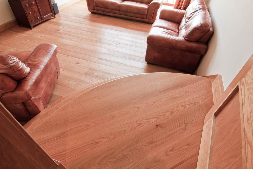 www.stockwell-ltd.co.uk   Quadrant stair in American white oak.
