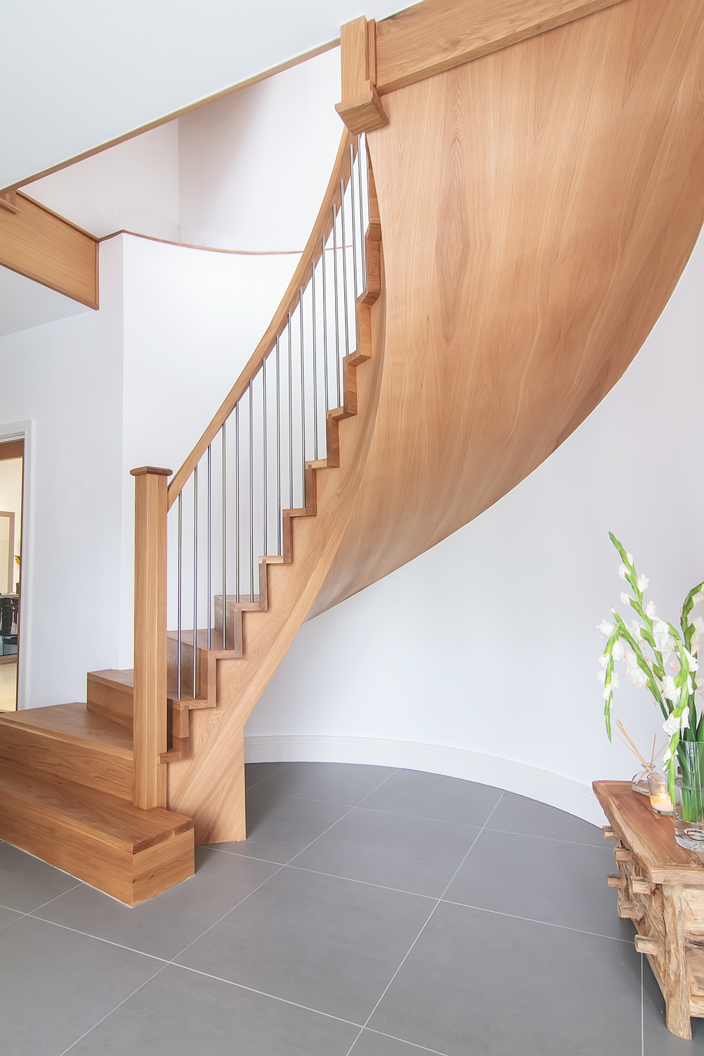 Bespoke staircase design stair manufacture and professional stairs installation based glasgow - Stairlift for curved staircase ...