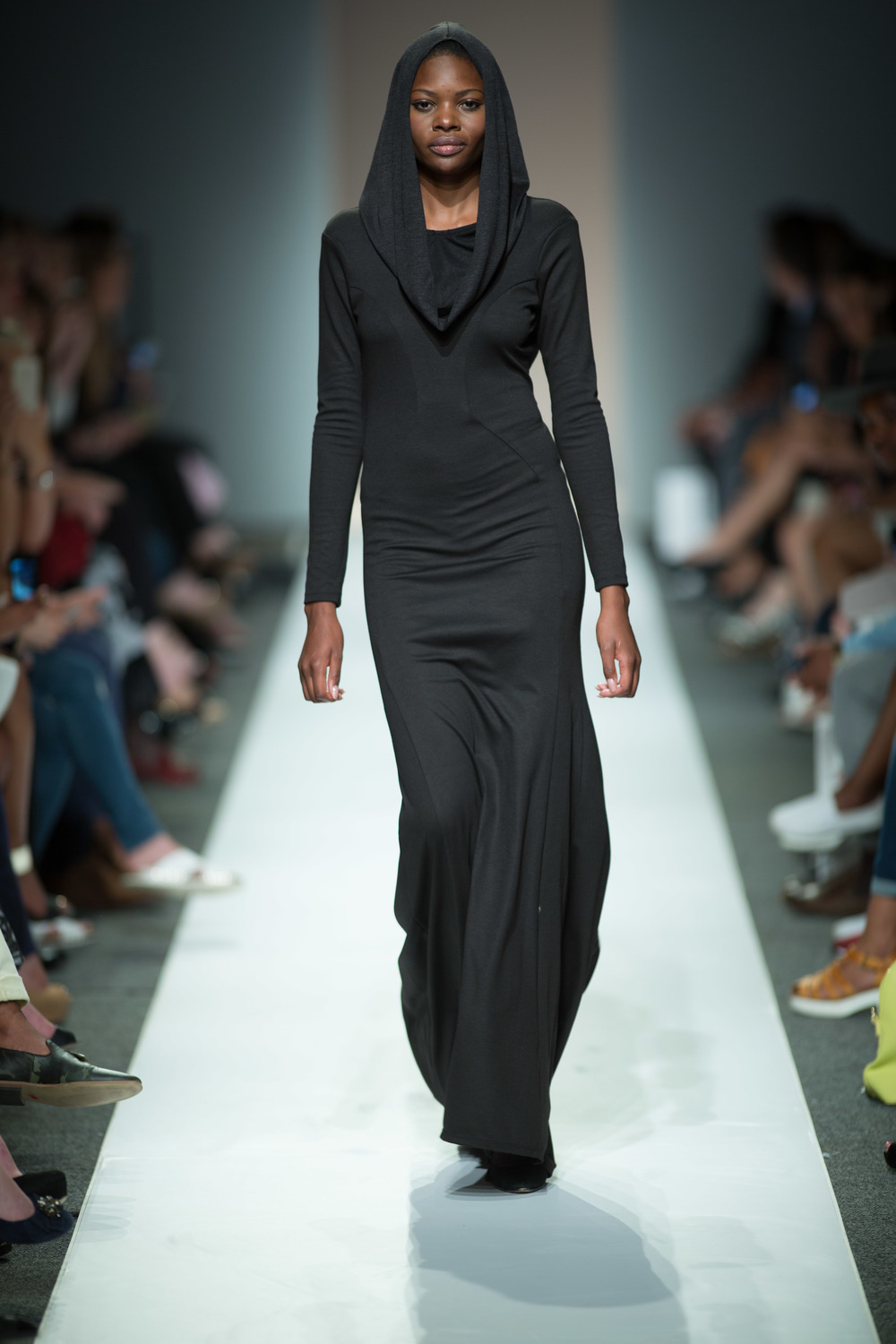 The long jersey dress inspired by the Balenciaga dress on the runway.