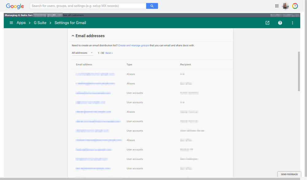 Gmail Email Addresses and Aliases in use
