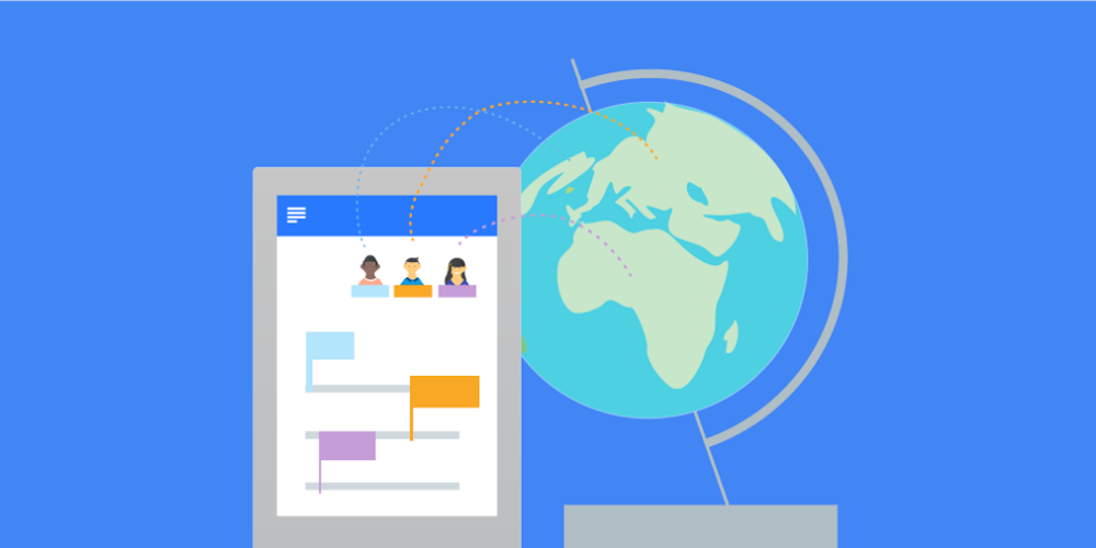 Hangouts - Whether in a 1:1 chat or a dedicated group workspace, Hangouts Chat makes it easy to collaborate with your team in an organized way. Share and discuss Docs, Sheets, and Slides all in one place.