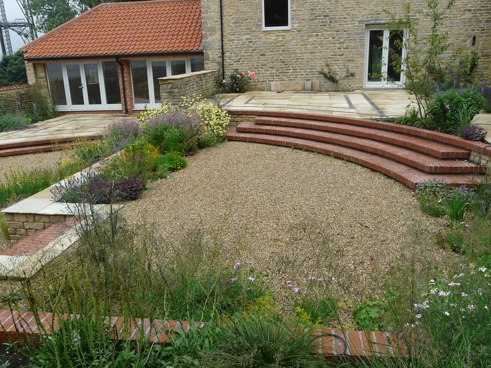 Hillside garden near Grantham, Lincolnshire