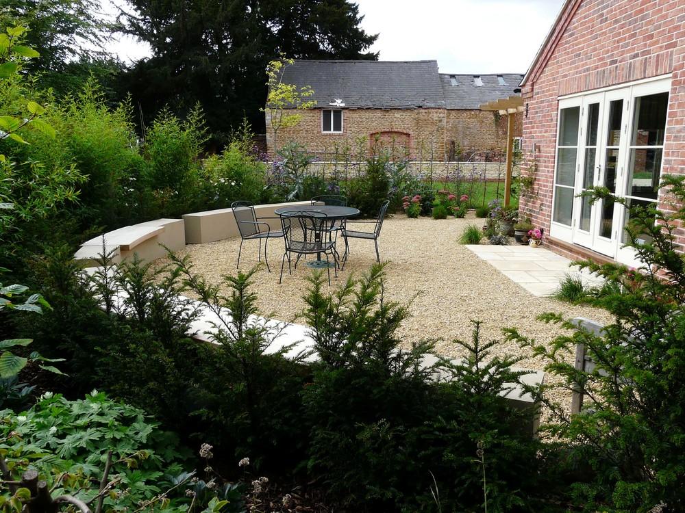Gravel terrace in Caythorpe garden.jpg