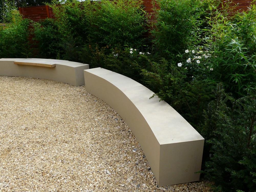 Rendered seats in Caythorpe garden.jpg