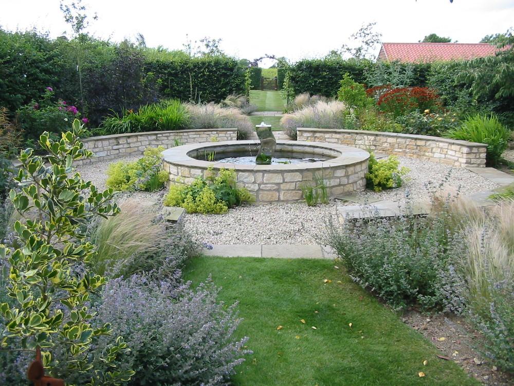 Raised pool in Fulbeck garden.JPG