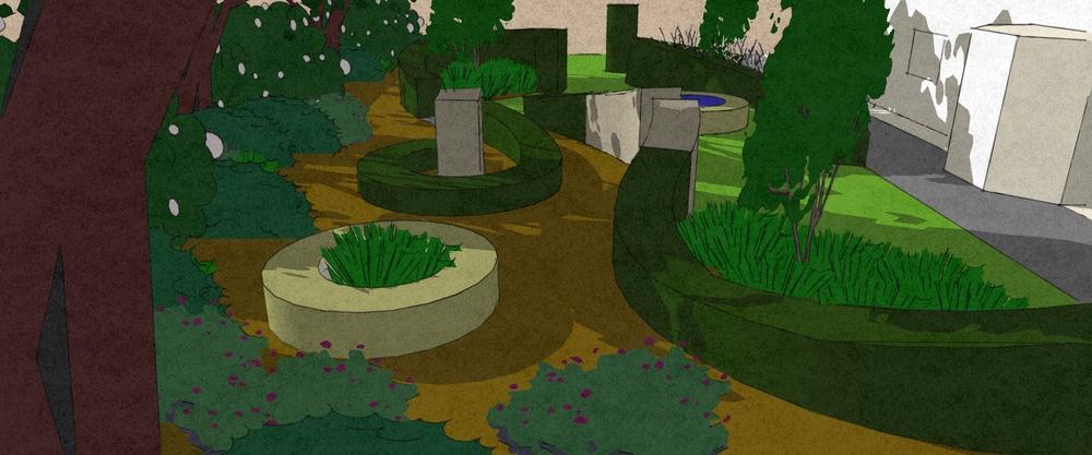 Abstract garden Saxilby