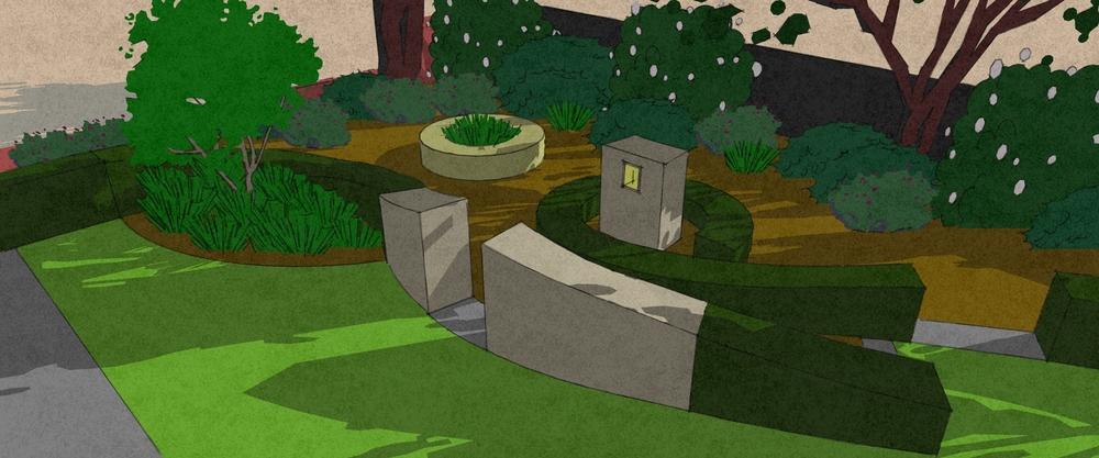 Abstract garden design Saxilby