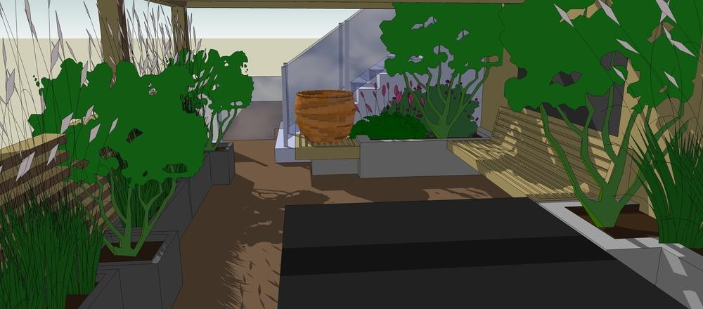 Rooftop garden Lincoln - illustration