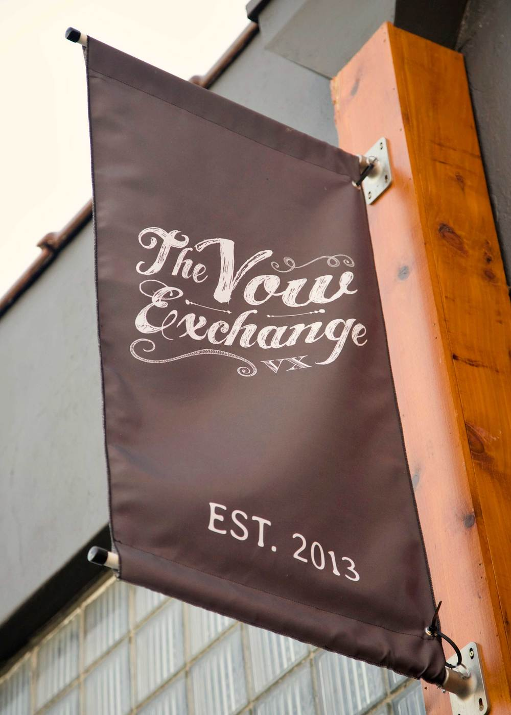 The Vow Exchange salon entrance