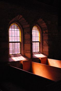The Chapel's stained glass windows