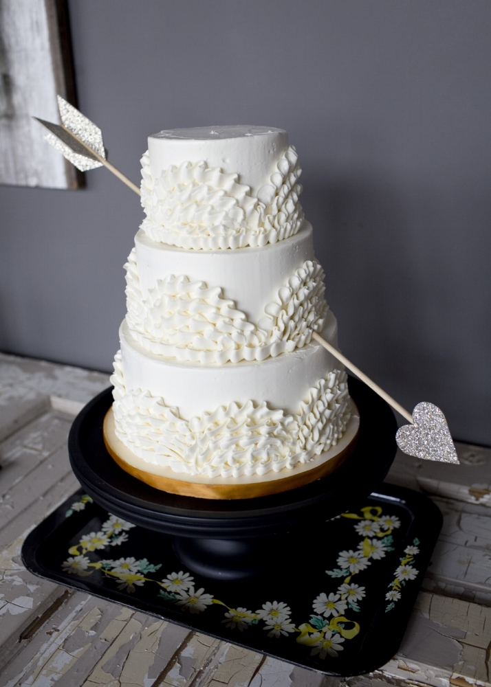 Standard 3 Tier Cake with all white frosting.