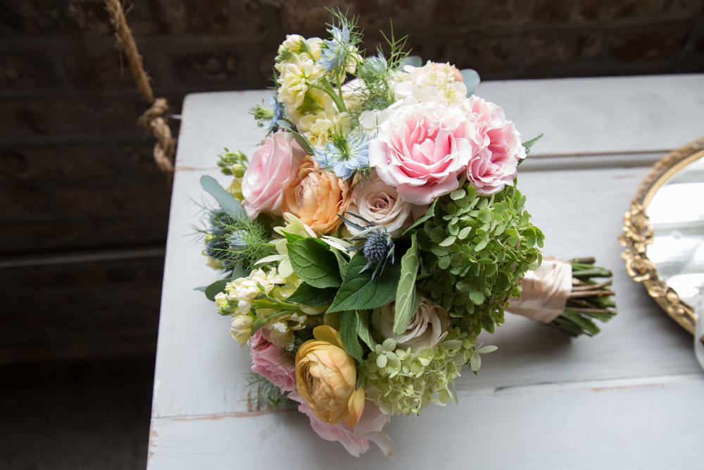 Roses, Hydrangeas and Thistles! Oh my!