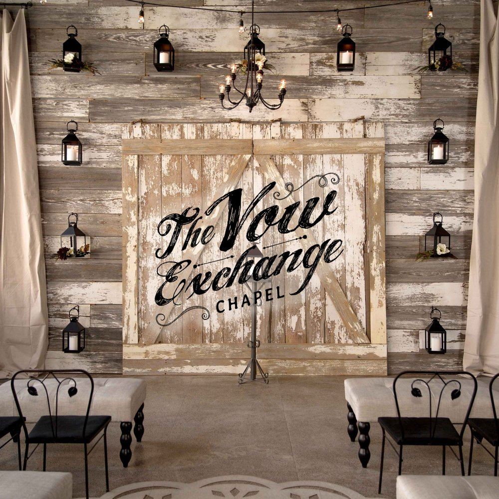 $5000 - THE VOW EXCHANGE CEREMONY + BOTTLES & BITES ATTHE VOW EXCHANGE CHAPEL7 DAYS A WEEK