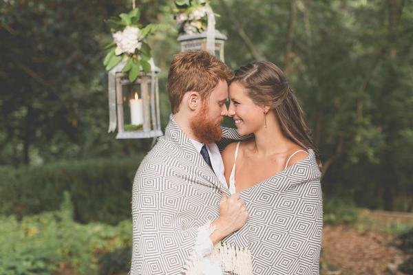 Swell Forever Blanket - Snuggle up with your sweetheart in a cozy cotton blanket with a personalized tag memorializing your love forever.