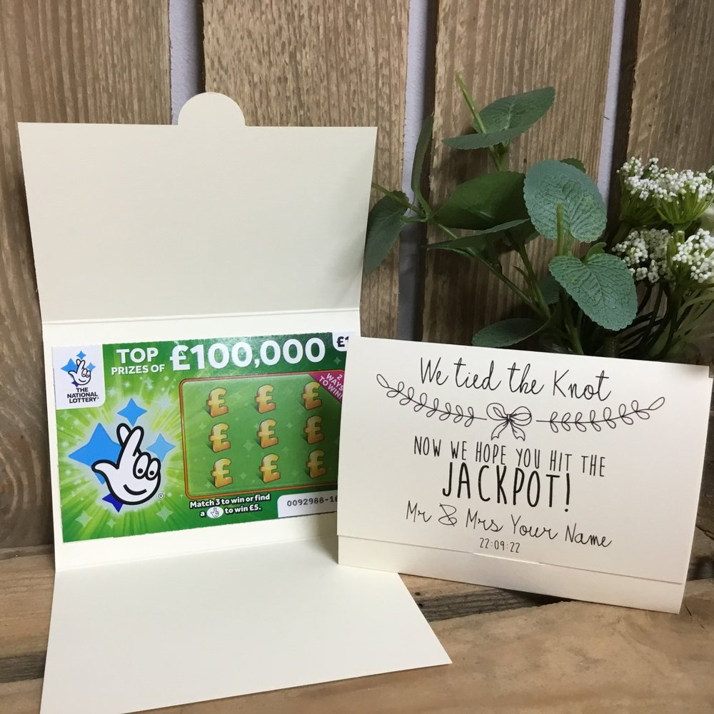 9. Scratch Cards - You were lucky in love, so try passing on some of that luck to your guests with these personalized scratch card holders!