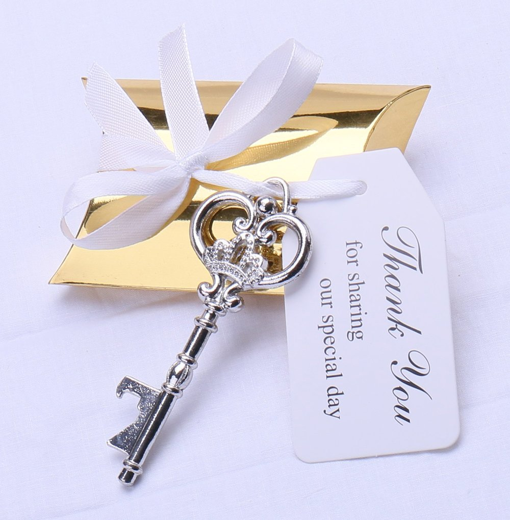3. Key Bottle Opener - Your guests are the key to your big day. Show them how much you appreciate them being there with a key that will always be there for them - to open their drinks!