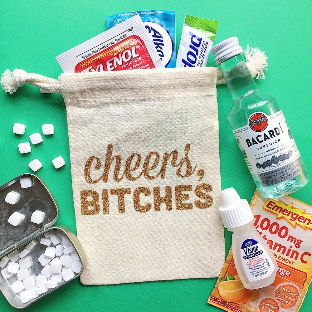 10. Hangover Party Favors - Send your love ones on their way with the needed equipment to survive the next day!