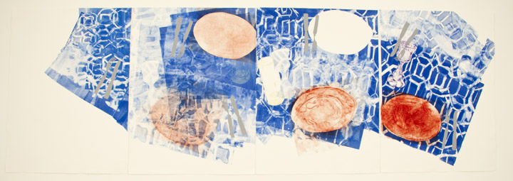"""Formica Dinette,"" 2011. Monotype, Dypoint, Silk Screen."