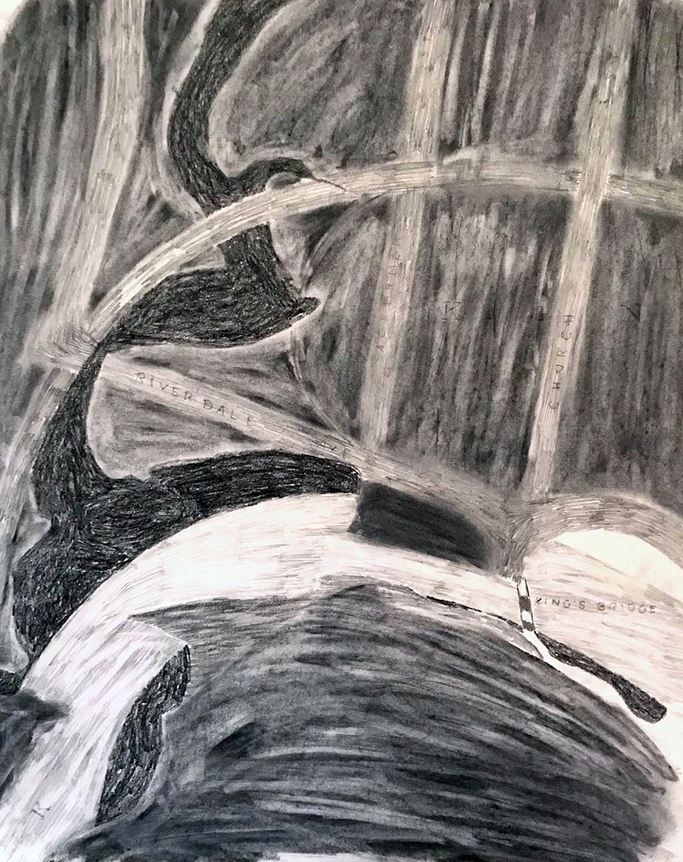 Mosholu #7, 2018, Graphite on Paper, 24 x 18 inches