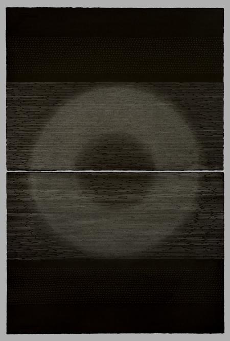 poka 2008 49 x 27 diptych graphite rag paper