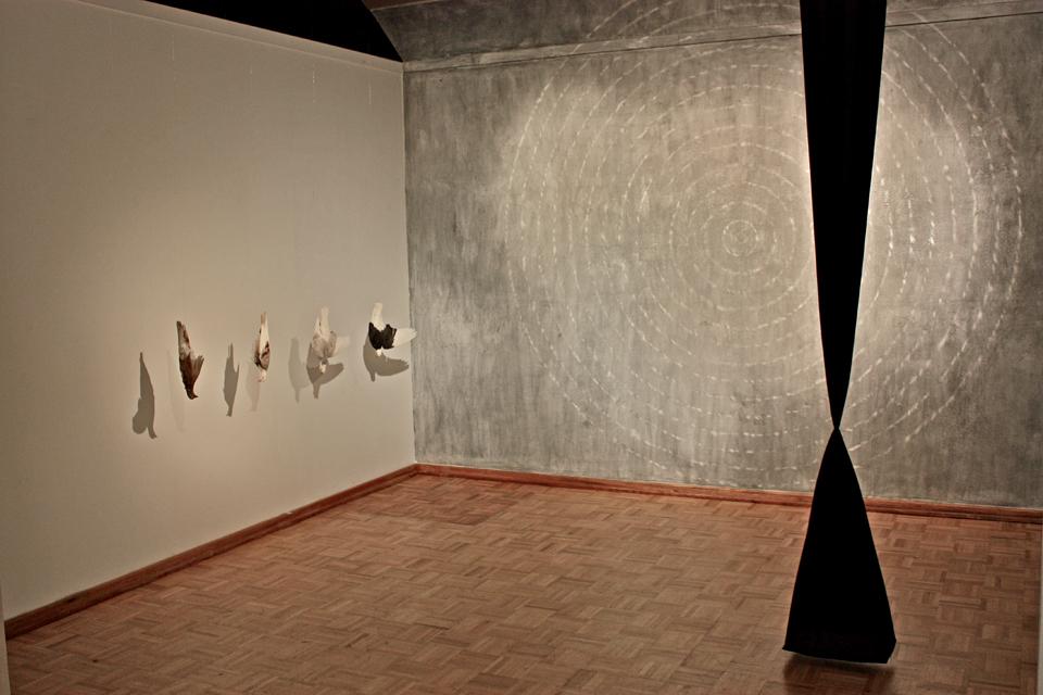 alluvial 2010 12 x 10 x 12 mixed media installation