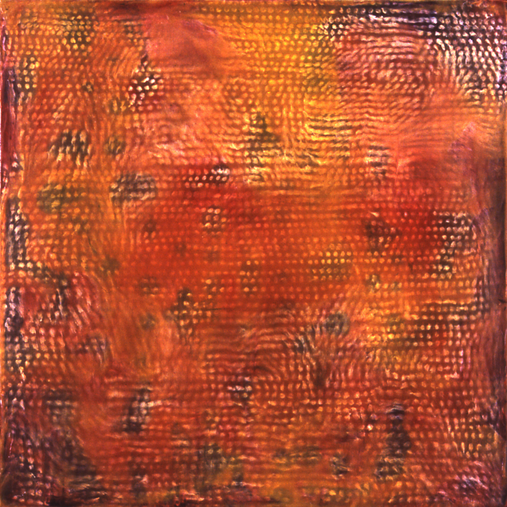 untitled 2006 16 x 16 x 3  oils encaustic wood
