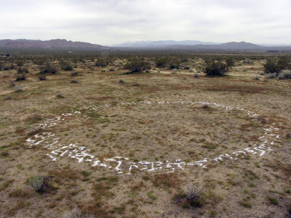 earthworks now untitled 2005 17 ft diameter  soil salt  joshua tree california