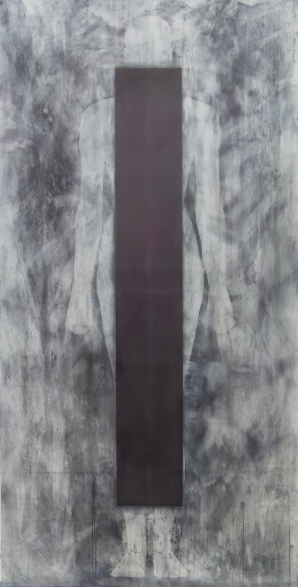 """silent moldering 2013 84"""" x 42"""" pigment graphite dura-lar"""