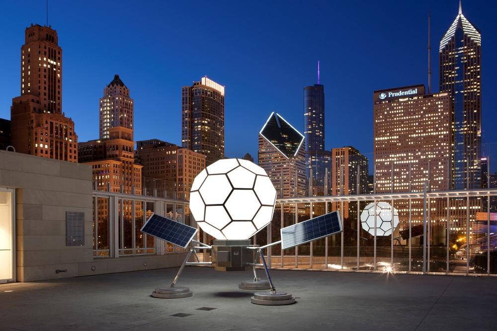 Structural Engineer - Rockey Structures  Artist - Spencer Finch  Chicago Art Installation