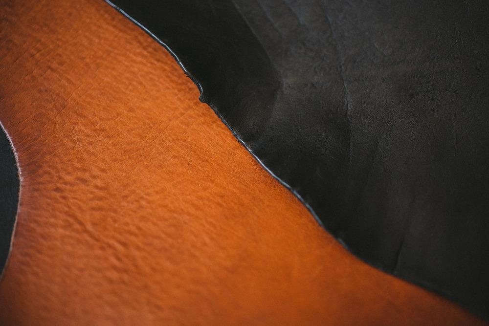 Full grain belt leather