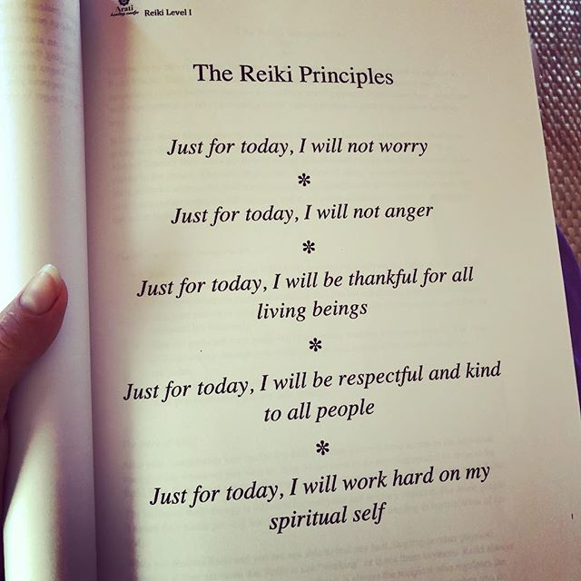 Just for today...#Reiki