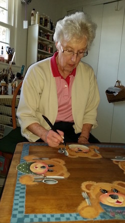 The Artist - Betsy Thomas at work