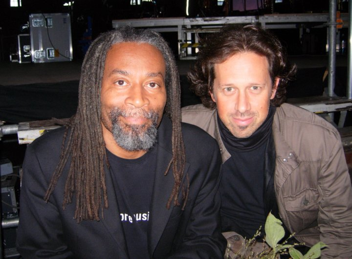 "Backstage with Bobby McFerrin before our concert ""Migrations"" with the NDR Big Band."