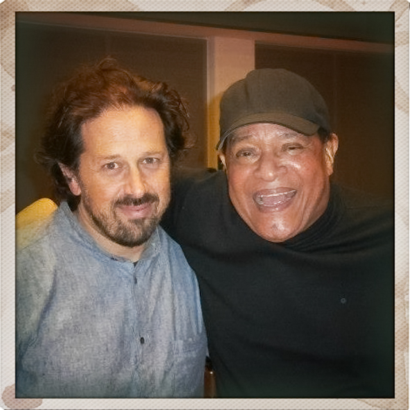 In the studio with Al Jarreau during rehearsals for our european tour with the NDR Big Band 2012.