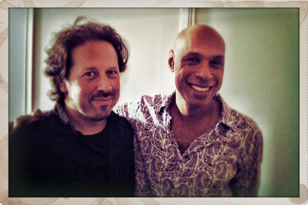 Backstage with Joshua Redman at the North Sea Jazz Festival after our concert together with the Metropole Orchestra conducted by Vince Mendoza.