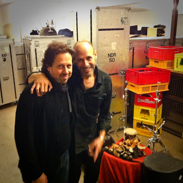 Backstage with Jeff Ballard after our concert with Stefano Bollani and the NDR Big Band in Hamburg.