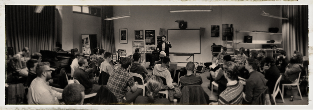 "Rhythm Workshop at the Jazz Department of the ""Royal Conservatory of Scotland"" in Glasgow."
