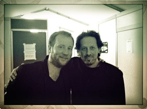 "Backstage with Martijn Vink after our concert at the ""North Sea Jazz Festival"" with Vince Mendoza, the Metropole orchestra and Joshua Redman."