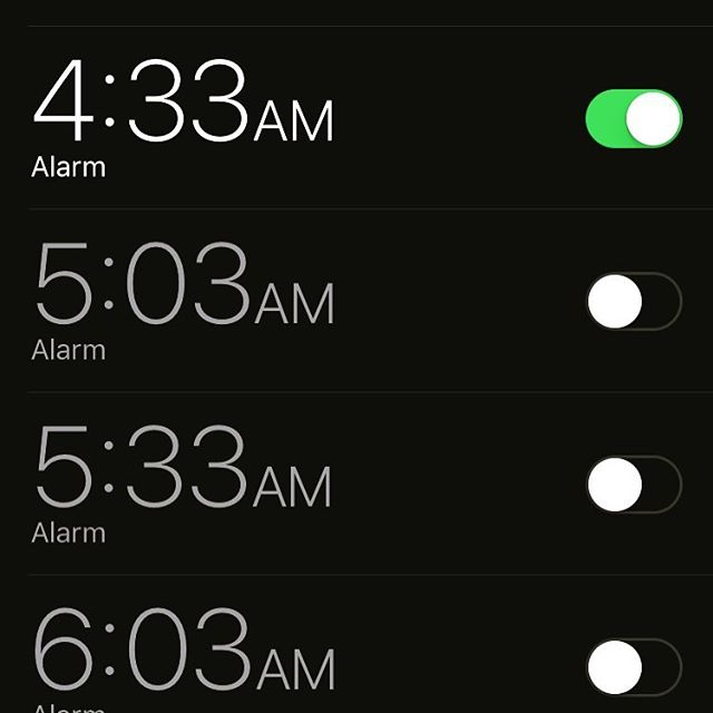 What do ones alarm say about a person?