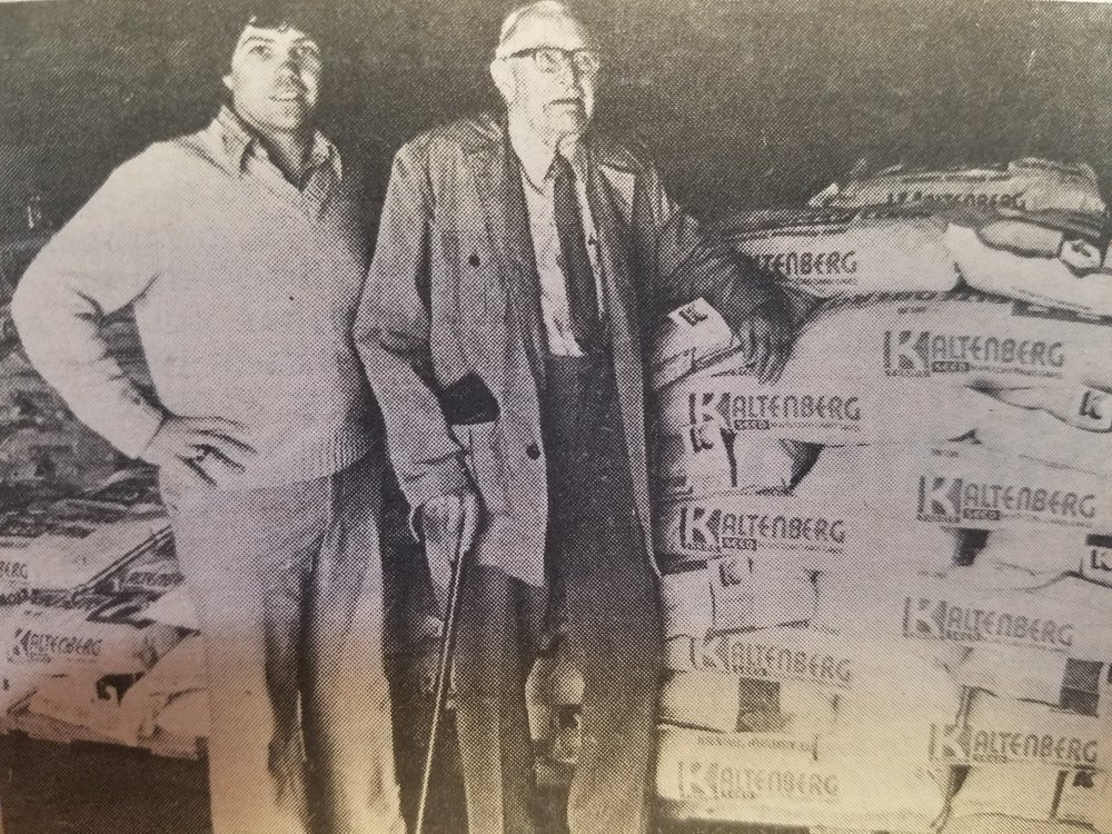 Owner Jack Kaltenberg and his grandfather and first generation in the seed world Anton Kaltenberg