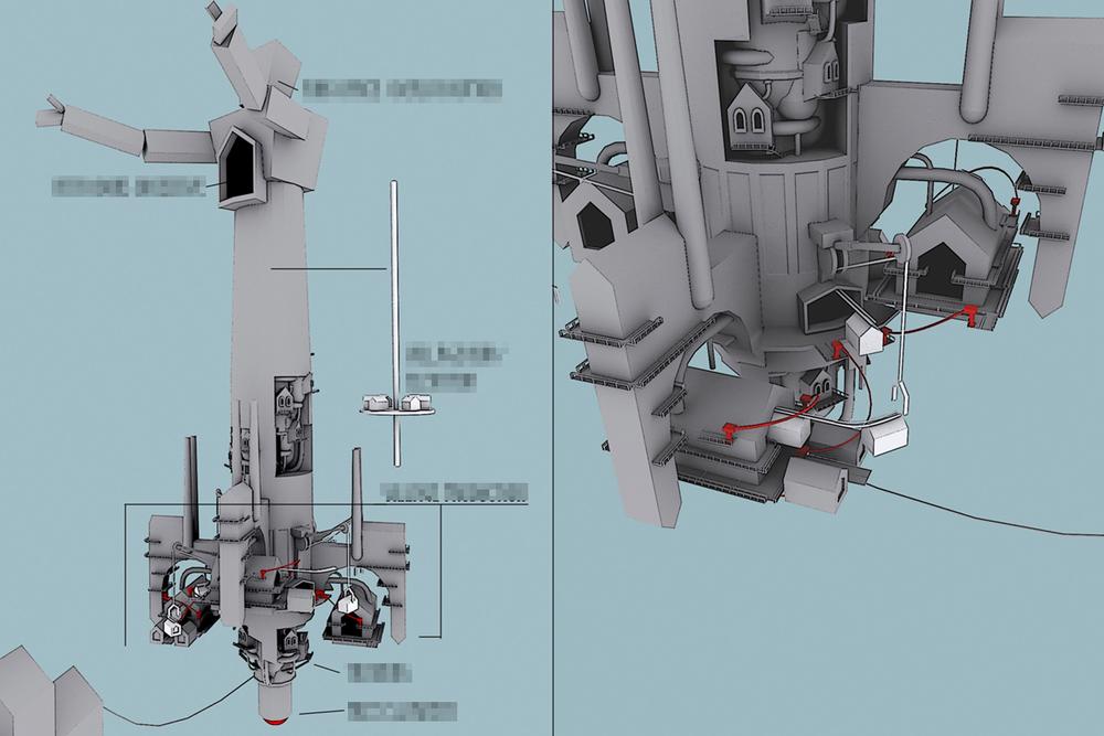 Factory Concept / Skyline Integration © Irrational Games