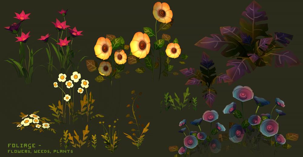 Psychonauts2 Prototype - Flowers