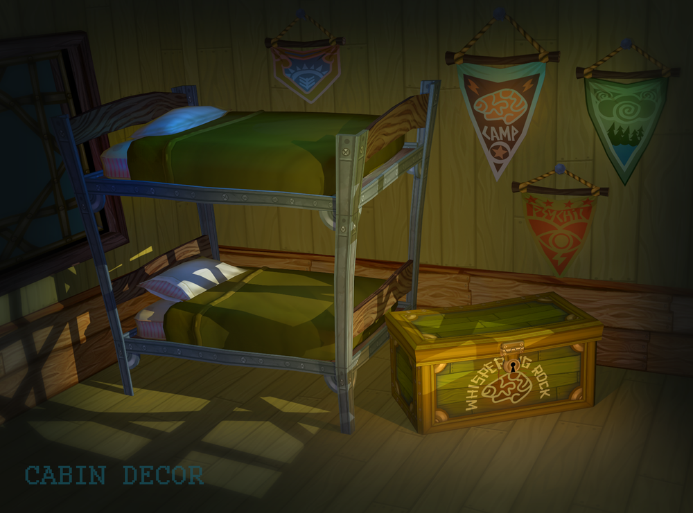 Psychonauts2 Prototype - Kid's Cabin Decor