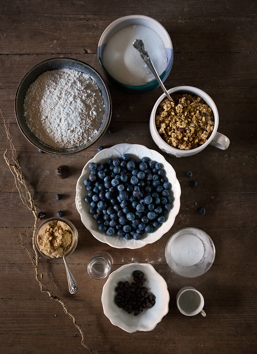 Dry Ingredients for Blueberry Breakfast Bake