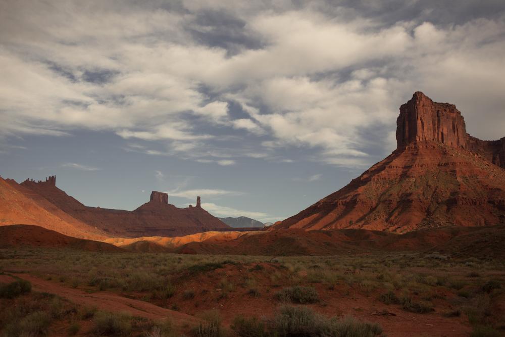 Distant view of Castle Rock